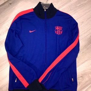 Authentic FC Barcelona soccer warm-up jacket
